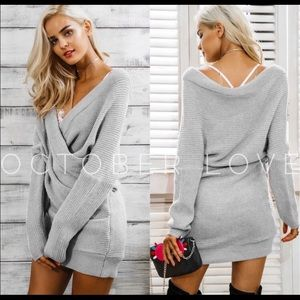 October Love Dresses - The Perfect Grey Knit Dress